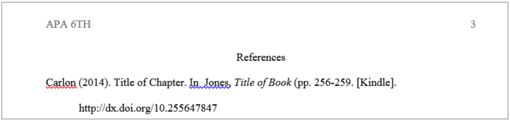 Reference Page Header Example